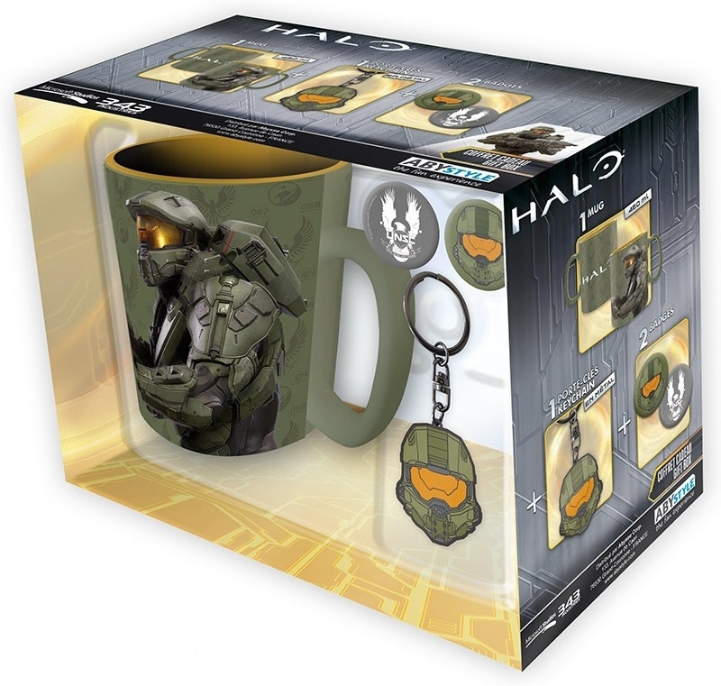 Image of Halo Mug + Keychain + Badges