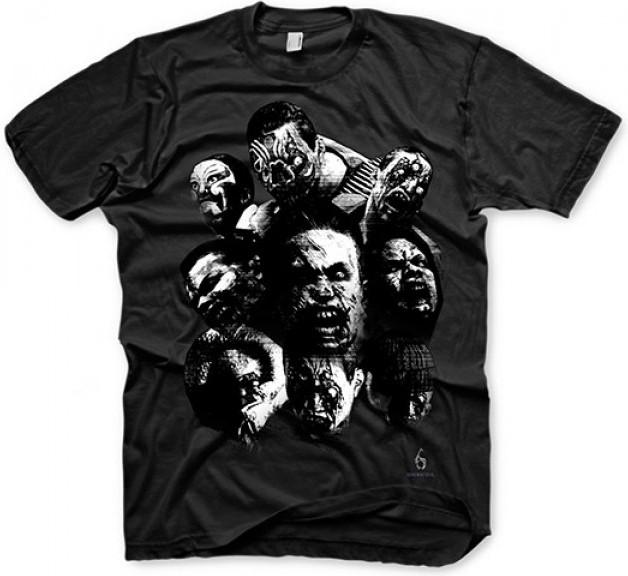 Resident Evil 6 T-Shirt - Zombie Mosaic Black