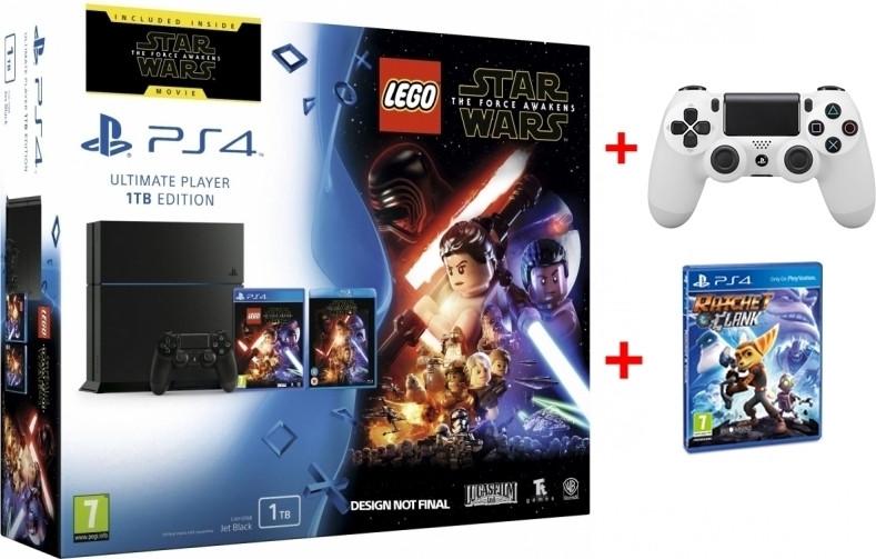 Playstation 4 (Black) 1TB + Lego Star Wars + Star Wars Blu-Ray + Gratis 2e Dual Shock