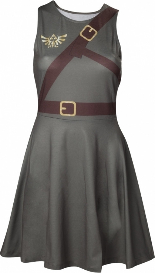 Zelda - Link Dress With Screenprinted Straps