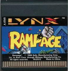 Rampage (losse cassette) voor de Atari Lynx