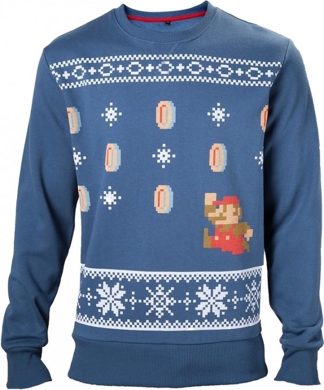 Nintendo Christmas Sweater Blue