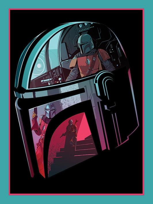 Star Wars the Mandalorian Canvas - Helmet Section (40x30cm)