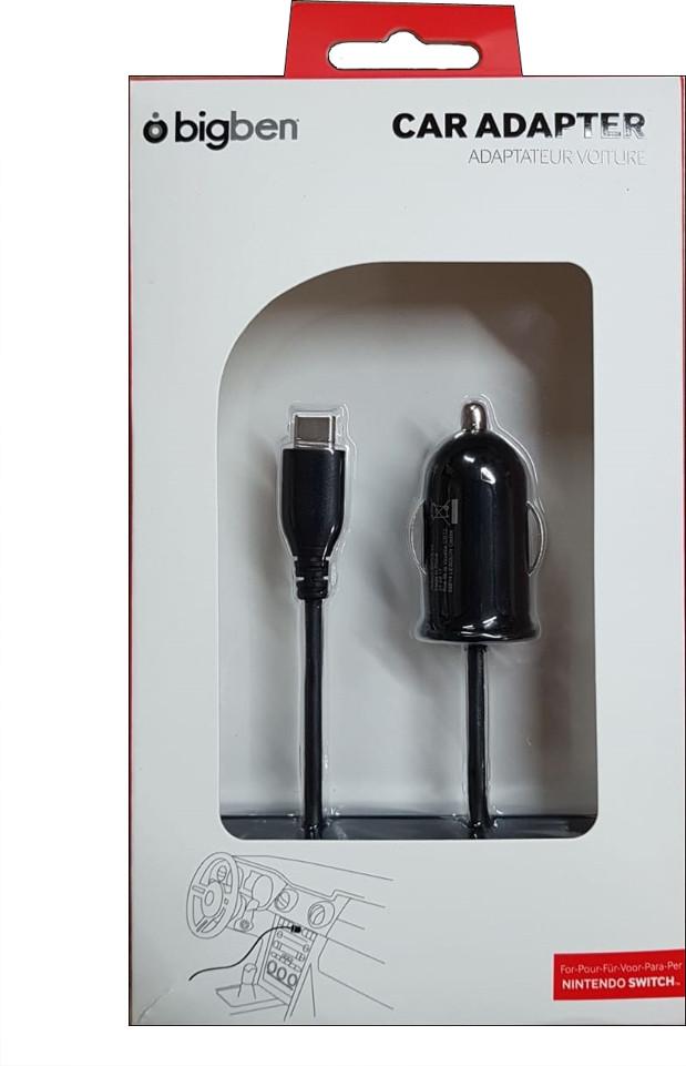 Bigben Interactive SWITCHCARLIGHTV2 Auto Zwart oplader voor mobiele apparatuur