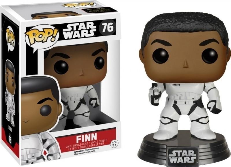 Star Wars The Force Awakens Stormtrooper Finn With Blaster Pop! Vinyl Figure