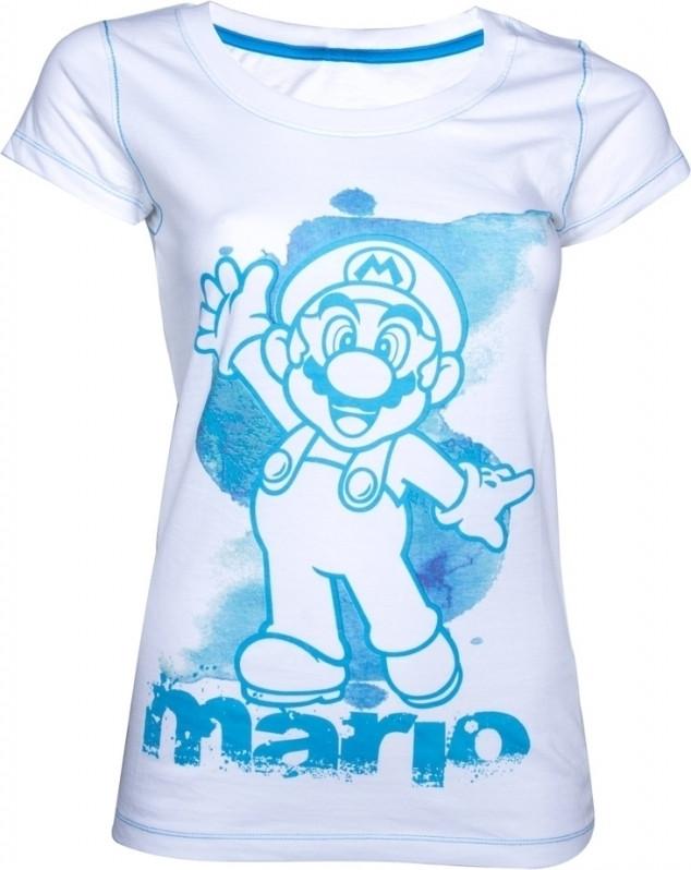 Super Mario T-Shirt White/Blue Women