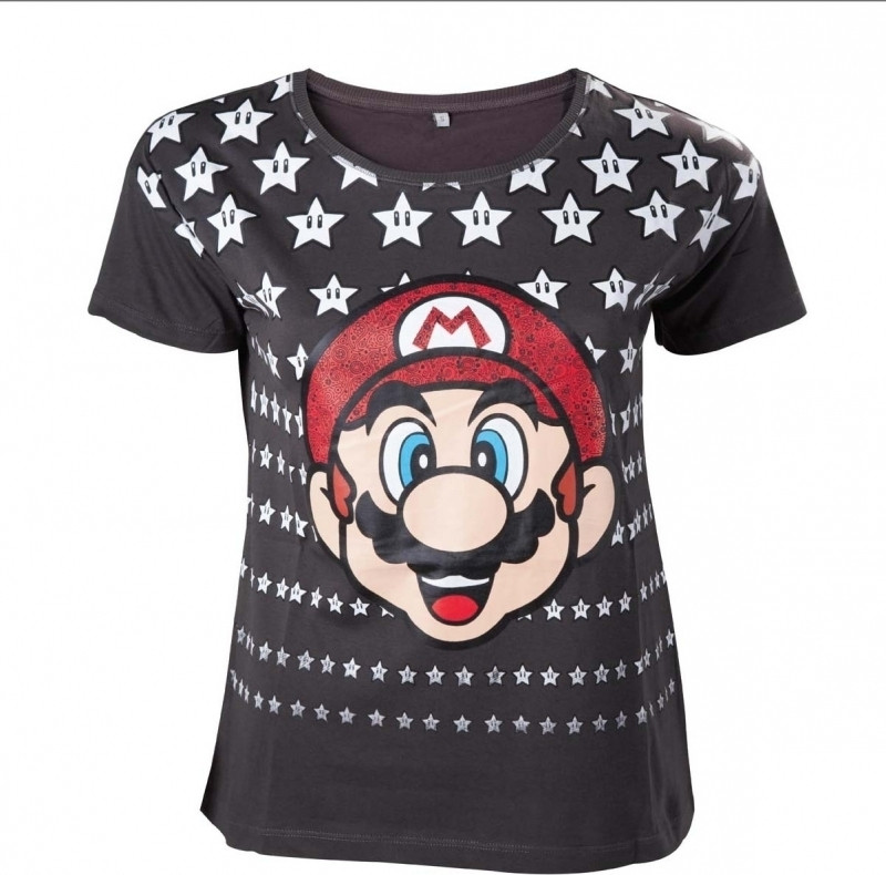Nintendo - Mario with Stars Female T-shirt