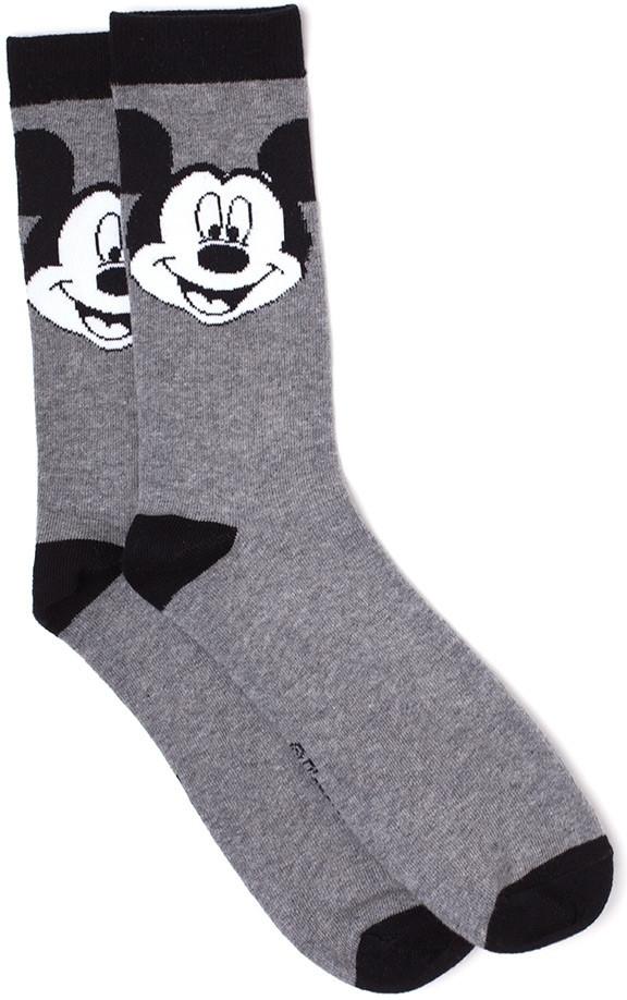 Disney - Mickey Big Face B&W Crew Socks