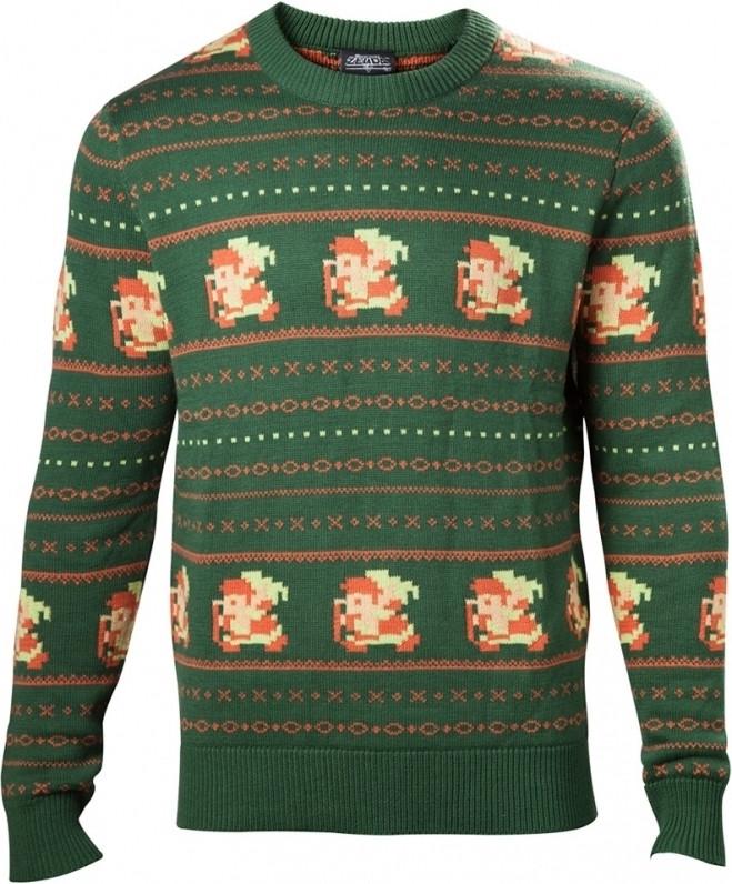 Zelda - Link Christmas Sweater Green