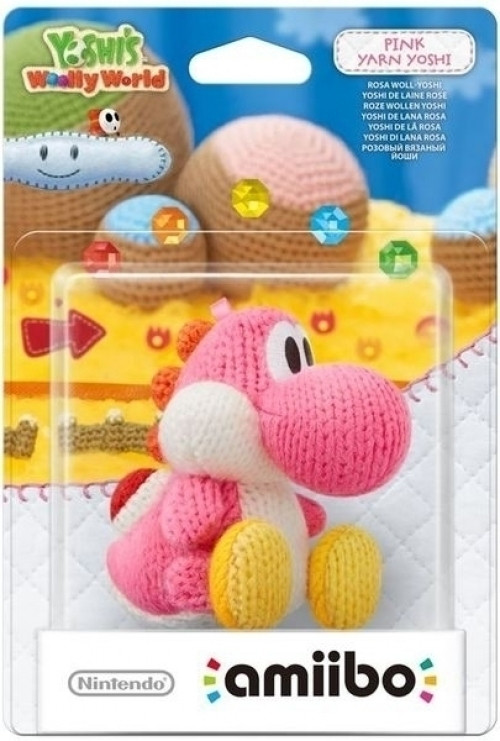 Amiibo Yoshi's Woolly World Collection - Pink Yarn Yoshi