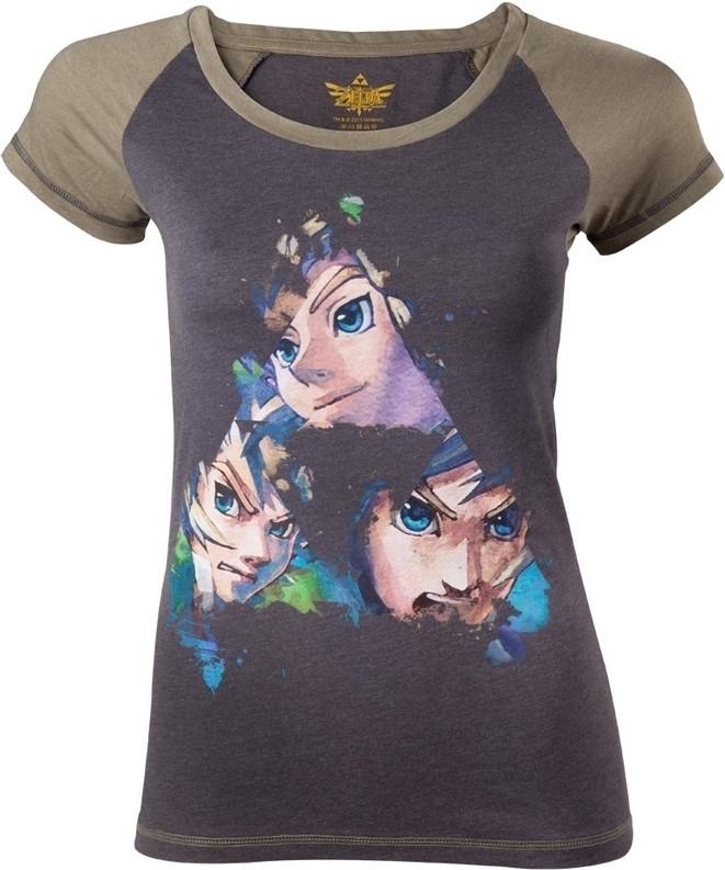 Zelda Black Triforce Faces T-Shirt Women