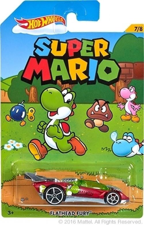 Hot Wheels Super Mario Car - Flathead Fury (Yoshi)