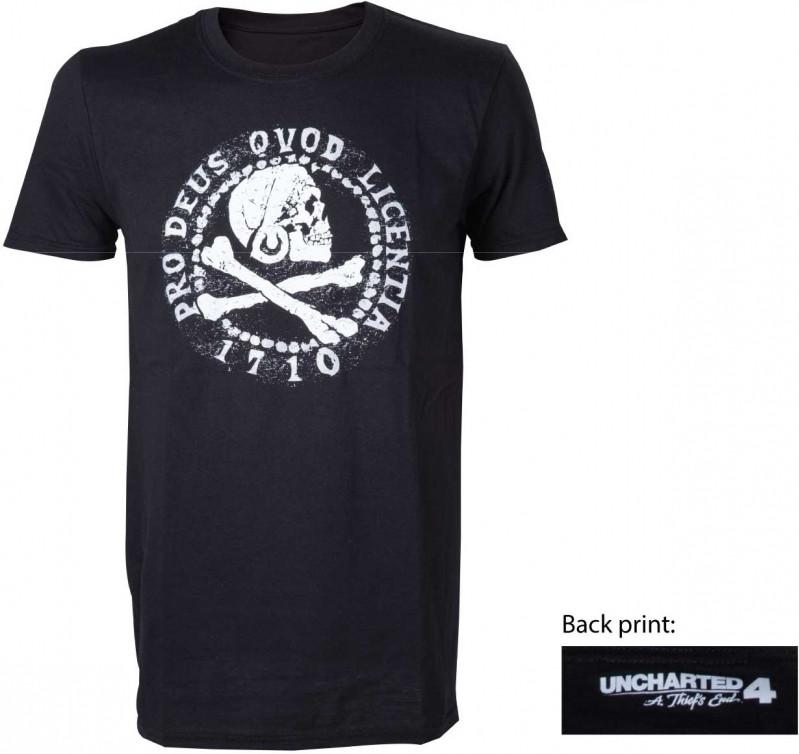 Uncharted 4 - Skull Logo T-shirt