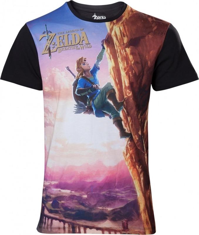 Zelda Breath of the Wild - All Over Link Climbing T-shirt kopen