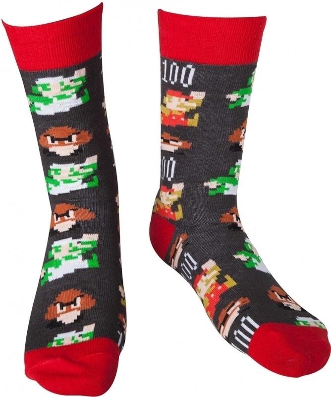 Nintendo - Mario Pixel Art Socks