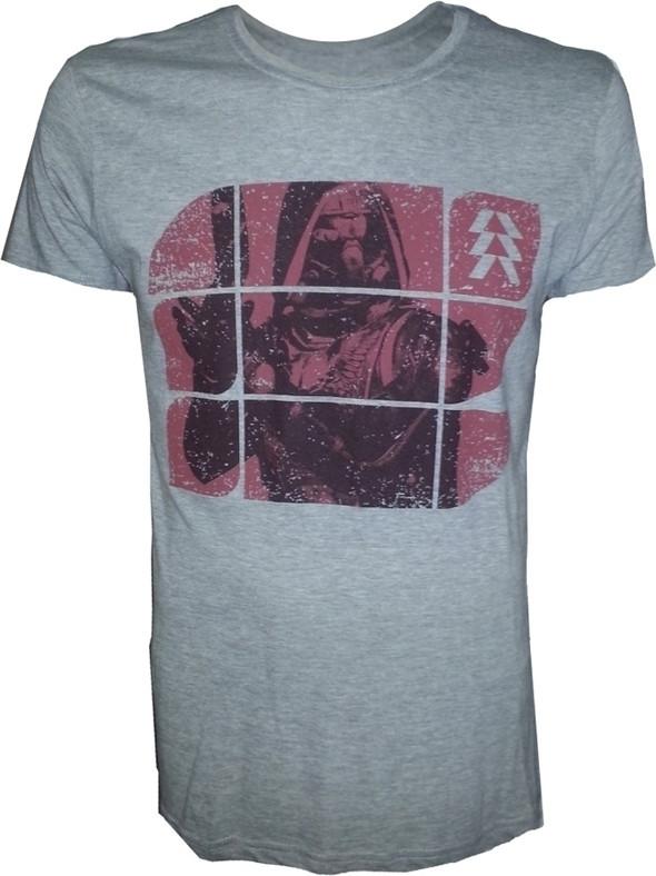 Destiny Grey Melange Red Print T-Shirt