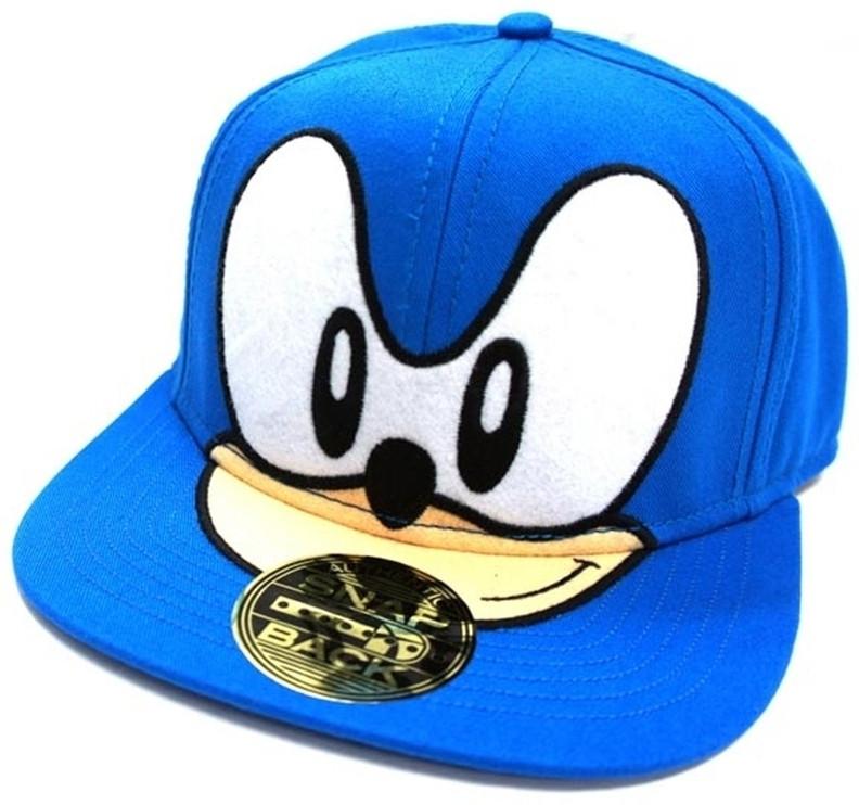 Sonic Face Blue Snapback Cap