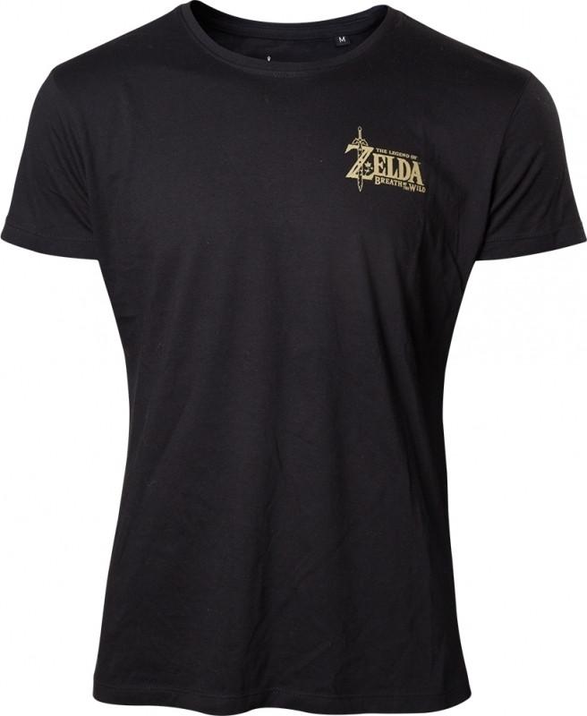 Zelda Breath of the Wild - Golden Game Logo on Back T-shirt