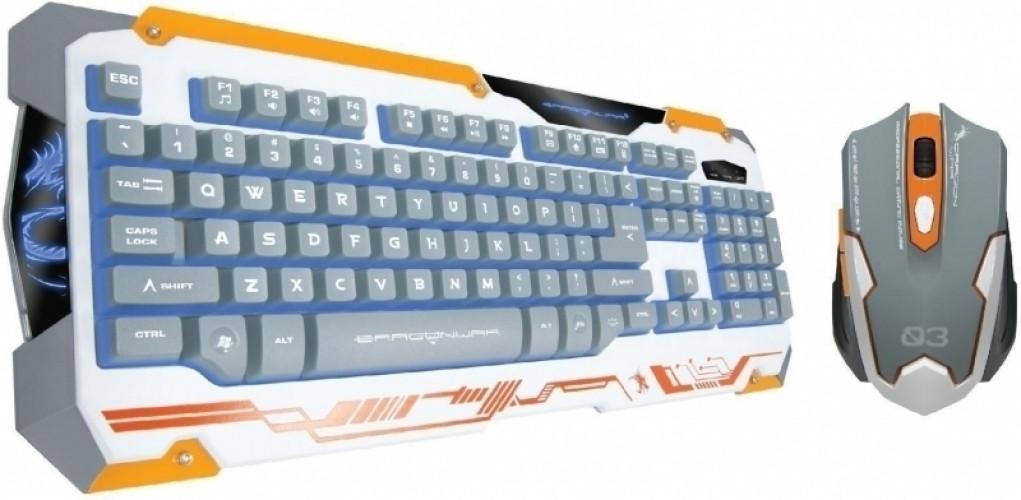 Image of Dragon War Sencaic Mouse + Keyboard (azerty) White Edition